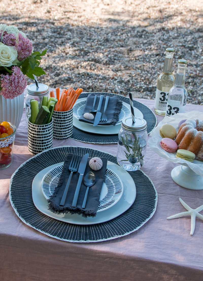 Dinner Tischdekoration Outdoor
